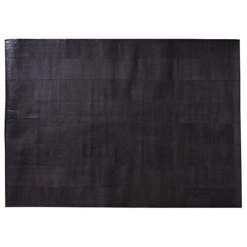 FUHRHOME Rabat håndlavet tæppe, ægte læder, (120x180cm), unika