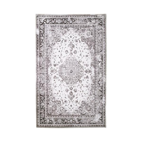 HOUSE NORDIC Havana gulvtæppe - hvid og sort chenille polyester (160x230)