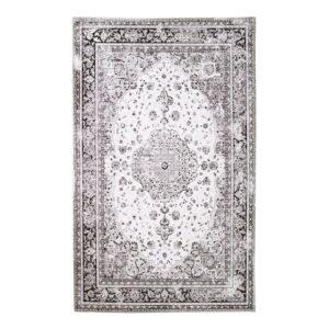 HOUSE NORDIC Havana gulvtæppe - hvid og sort polyester (200x300)