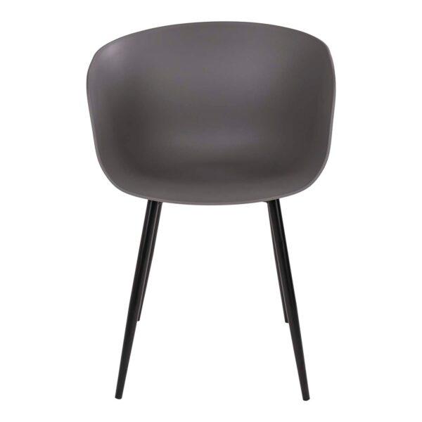HOUSE NORDIC Roda spisebordsstol - grå plastik sort stål