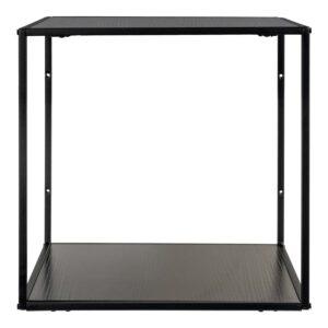 HOUSE NORDIC Vita væghylde - sort melamin og sort stål (36x36x36)