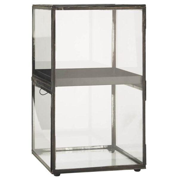 IB LAURSEN Display, m. aftagelig metalhylde - glas og metal