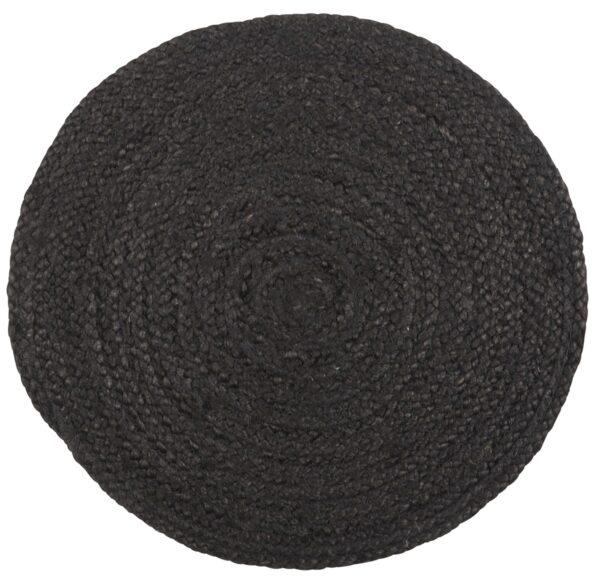 IB LAURSEN dækkeserviet - sort jute (Ø 35)