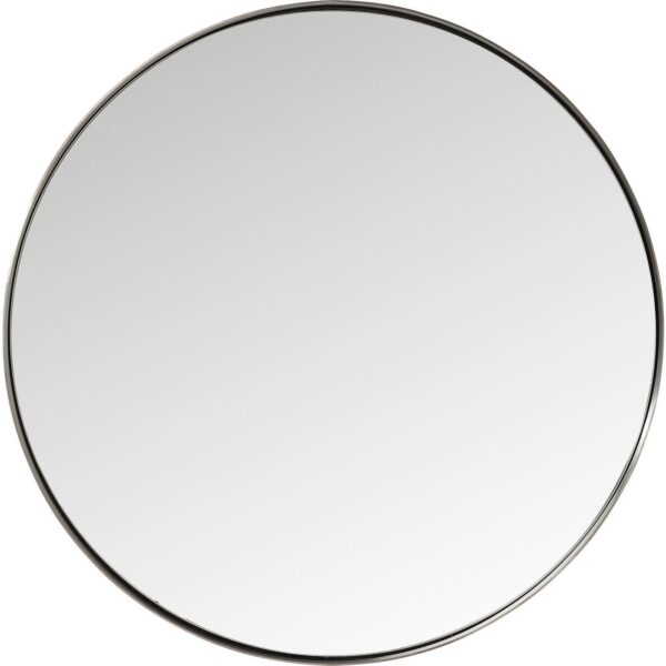 KARE DESIGN Curve Round Nature spejl - spejlglas og stålramme, rund (Ø 100)
