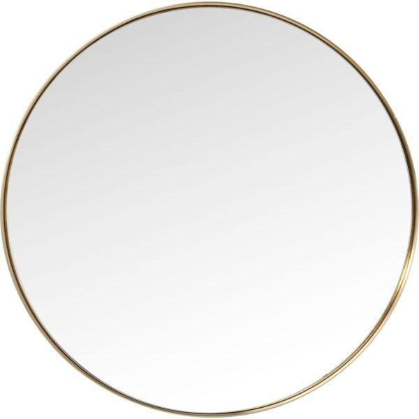 KARE DESIGN Curve Round spejl - spejlglas og messingbelagt ramme, rund (Ø 100)