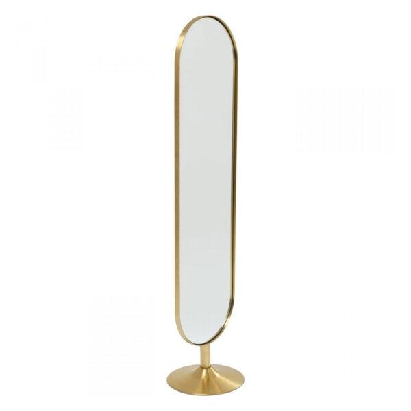 KARE DESIGN Curve gulvspejl - messingbelagt stål og spejlglas (170x40)