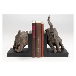 KARE DESIGN Elephants bogstøtte - brun polyresin (sæt á 2)