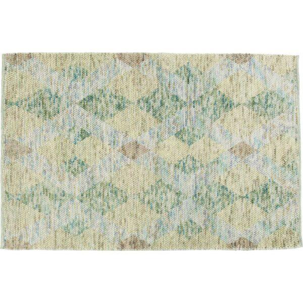 KARE DESIGN Grasshopper gulvtæppe - multifarvet uld/bomuld/nylon, håndlavet (240x170)