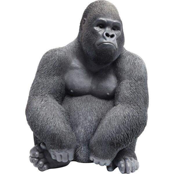 KARE DESIGN Monkey Gorilla Side skulptur - sort/grå polyresin (H 38,5)