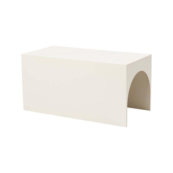 KRISTINA DAM STUDIO Arch sofabord, lille - beige stål (60x30)