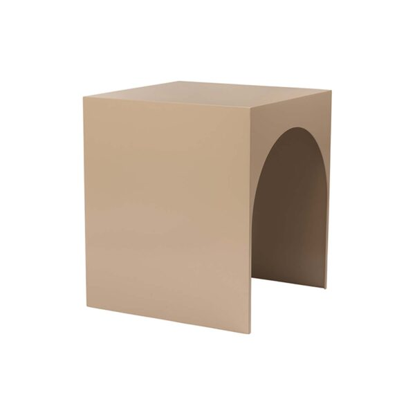 KRISTINA DAM STUDIO Arch sofabord, stor - brun stål (40x40)