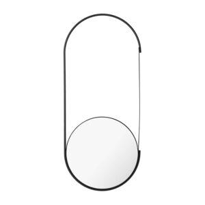 KRISTINA DAM STUDIO Mobile vægspejl - spejlglas og sort stål (72x31)