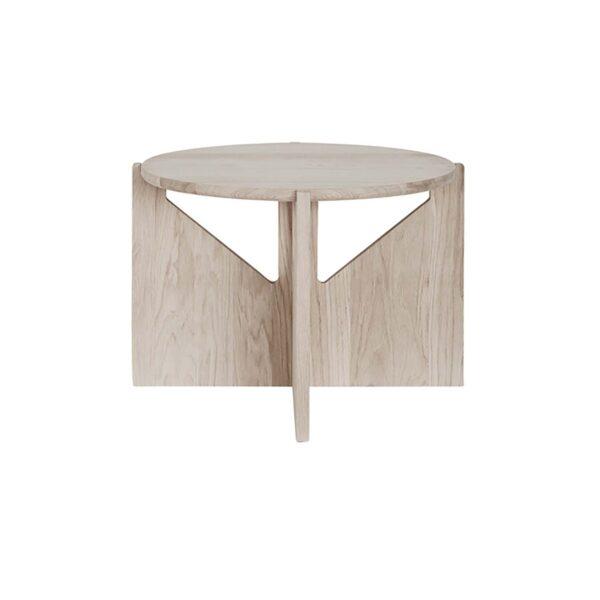 KRISTINA DAM STUDIO sofabord - natur eg (Ø52)