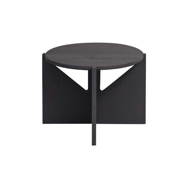 KRISTINA DAM STUDIO sofabord - sort træ (Ø52)