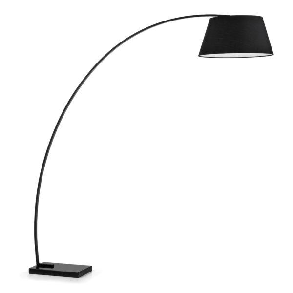 LAFORMA Chop gulvlampe - sort metal/marmor/stof