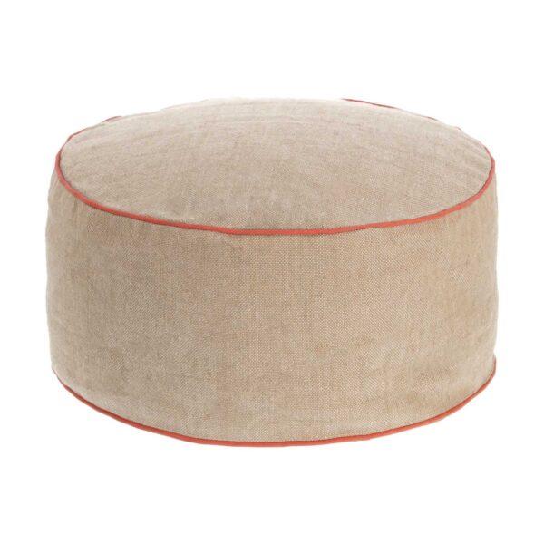 LAFORMA Dalila puf, rund - beige PET-plast (Ø 60)