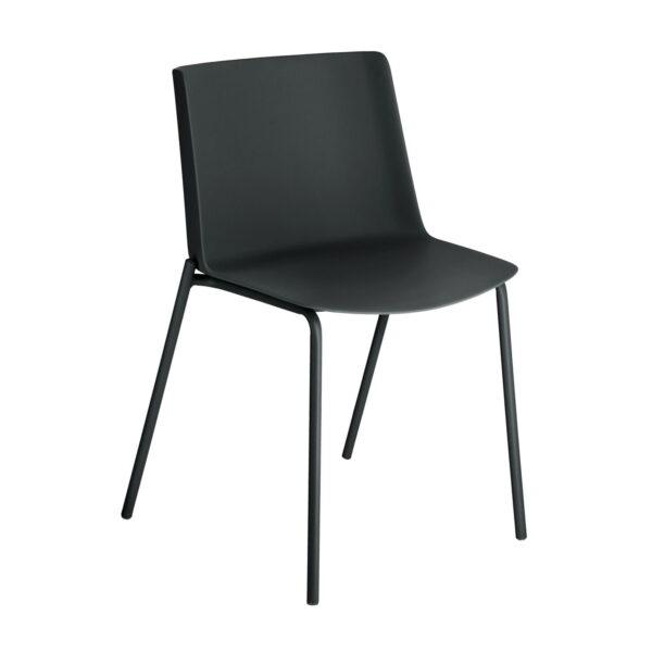 LAFORMA Hannia - spisebordsstol, u. armlæn - sort plast og stål