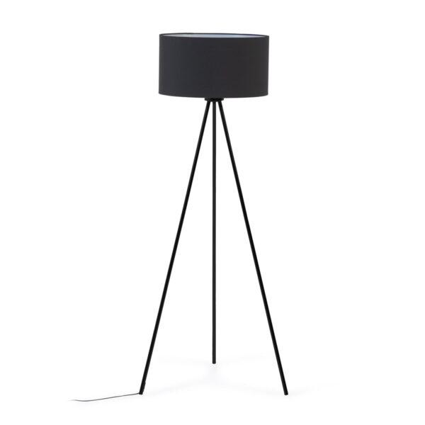 LAFORMA Ikia gulvlampe - sort bomuld/polyester og sort metal