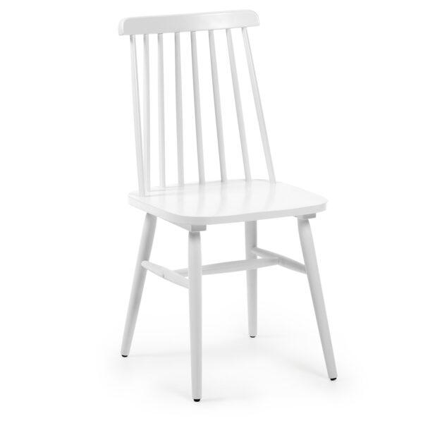 LAFORMA Kristie spisebordsstol - hvid spånplade og gummitræ