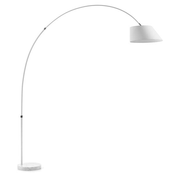 LAFORMA Lee gulvlampe - hvid metal/marmor/stof