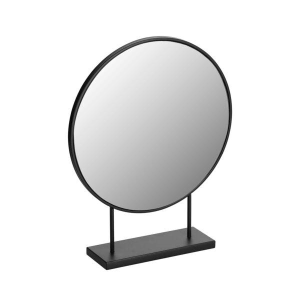LAFORMA Libia bordspejl - spejlglas og sort jern (36x45)