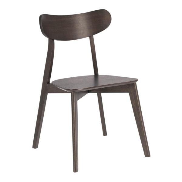 LAFORMA Safina spisebordsstol - mørkebrun asketræsfiner og gummitræ