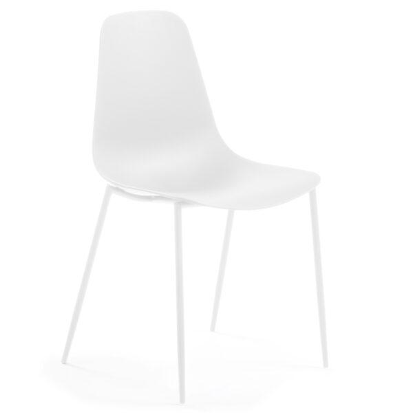 LAFORMA Wassu spisebordsstol - hvid plastik og stål
