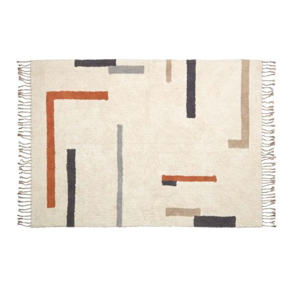 LAFORMA rektangulær Bahiia gulvtæppe - multifarvet bomuld (140x200)