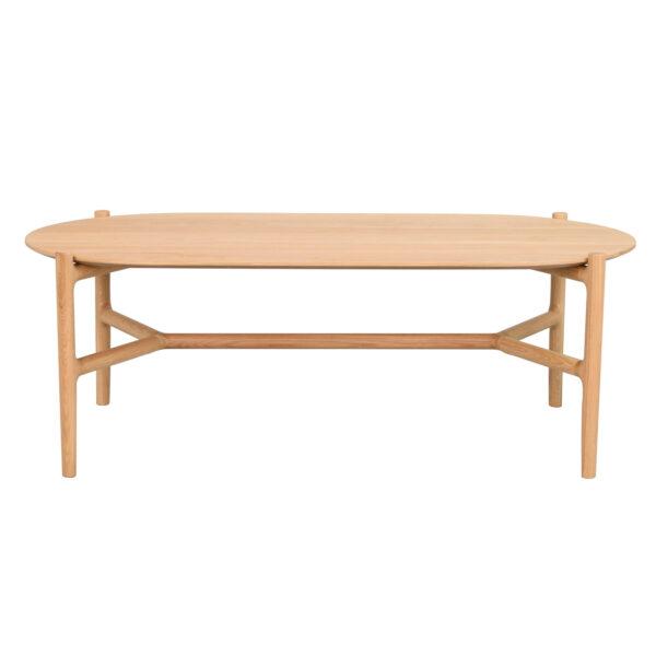 ROWICO Holton sofabord, oval - natur egetræsfiner og egetræ (130x65)