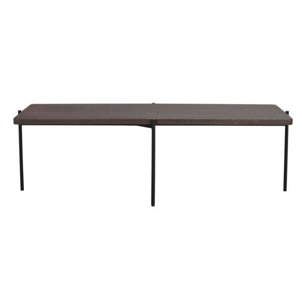 ROWICO Shelton sofabord - brun asketræ og sort metal (145x60)