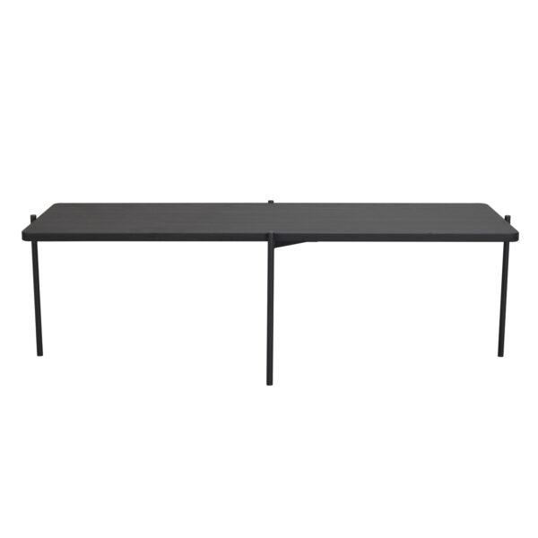 ROWICO Shelton sofabord - sort asketræ og sort metal (145x60)