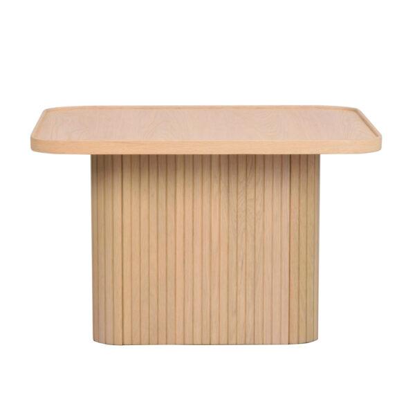 ROWICO Sullivan sofabord, kvadratisk - hvidpigmenteret egetræsfiner og egetræ (60x60)