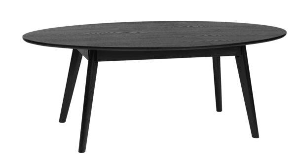 ROWICO Yumi sofabord - sort egetræ, ovalt (130x65)