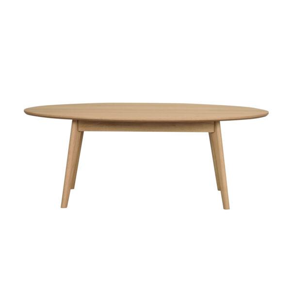 ROWICO oval Yumi sofabord - natur egetræsfiner og eg (130x65)