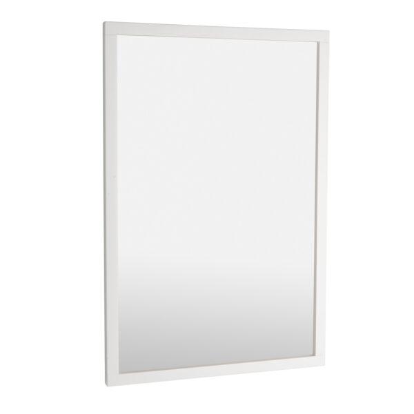 ROWICO rektangulær Confetti vægspejl - spejlglas og hvid birk (90x60)