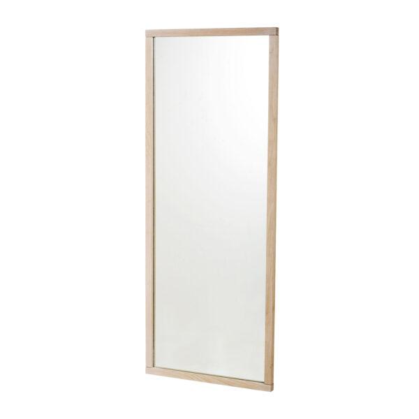 ROWICO rektangulær Confetti vægspejl - spejlglas og hvidvasket eg (150x60)