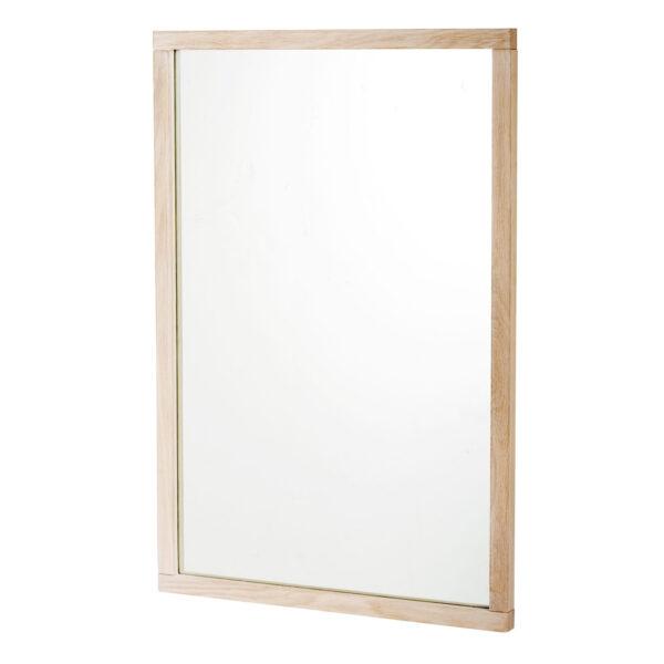 ROWICO rektangulær Confetti vægspejl - spejlglas og hvidvasket eg (90x60)