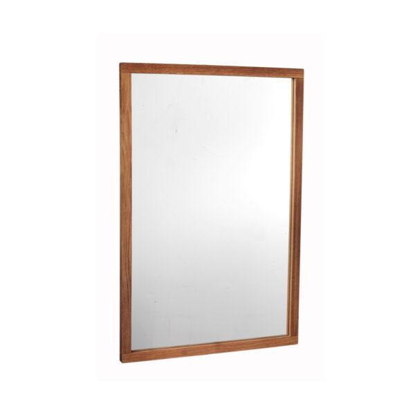 ROWICO rektangulær Confetti vægspejl - spejlglas og natur eg (90x60)