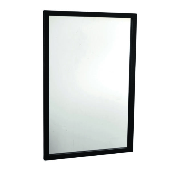 ROWICO rektangulær Confetti vægspejl - spejlglas og sort eg (90x60)