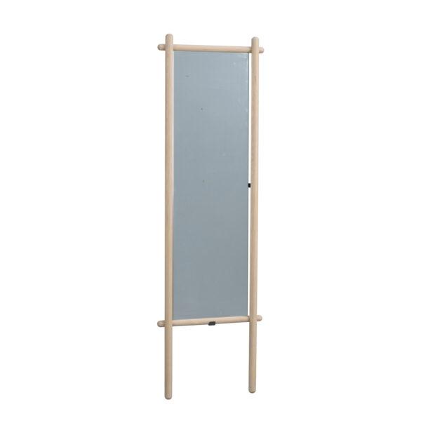 ROWICO rektangulær Milford gulvspejl - spejlglas og hvidvasket eg (180x52)