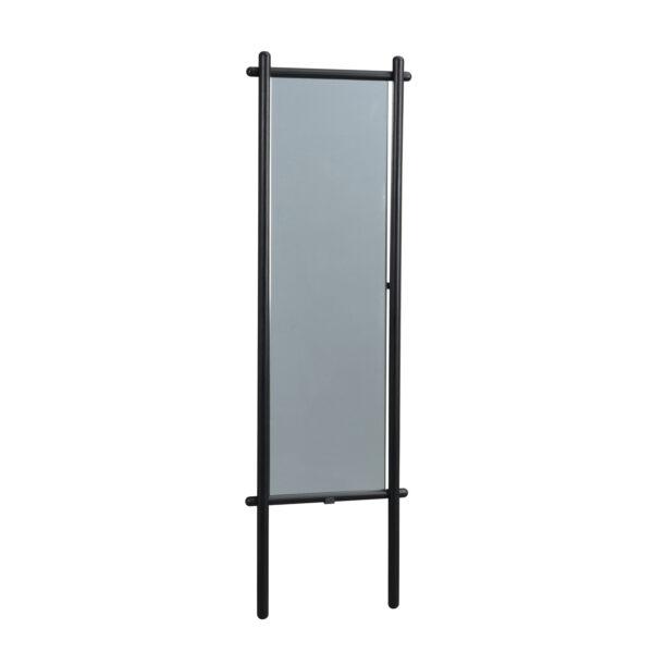 ROWICO rektangulær Milford gulvspejl - spejlglas og sort eg (180x52)
