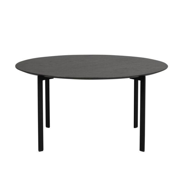ROWICO rund Spencer sofabord - sort egetræsfiner og metal (Ø90)