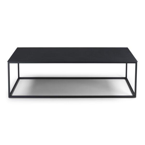 SPINDER DESIGN Store sofabord - sort stål (120x40)