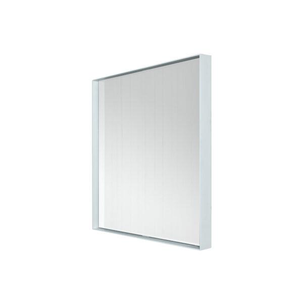 SPINDER DESIGN kvadratisk Donna vægspejl - spejlglas og hvid stål (60x60)