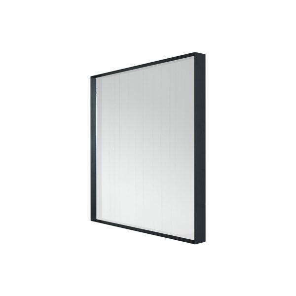 SPINDER DESIGN kvadratisk Donna vægspejl - spejlglas og sort stål (60x60)