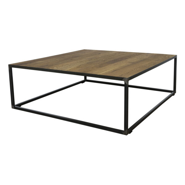 SPINDER DESIGN kvadratisk John Blacksmith sofabord - stål (100x100)
