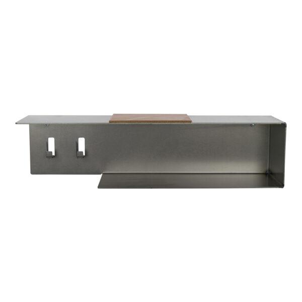 SPINDER DESIGN rektangulær Hombre Blacksmith nøglehylde - læder og stål