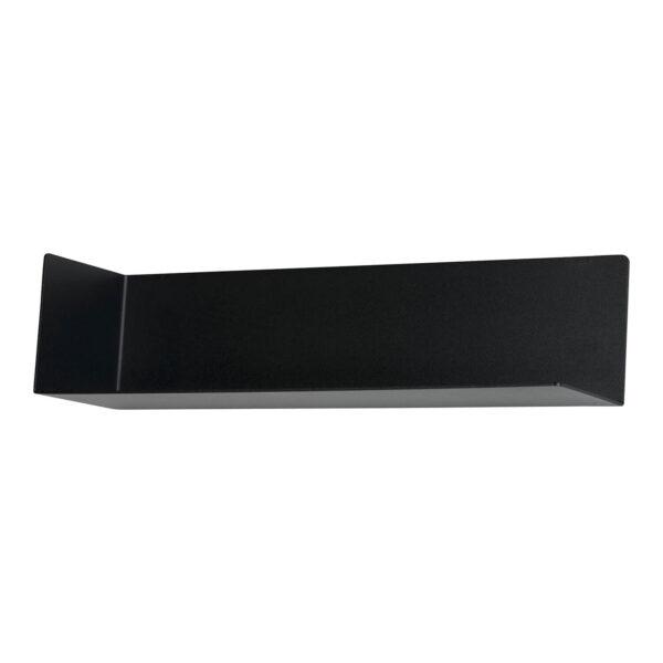 SPINDER DESIGN rektangulær Matt væghylde - sort stål