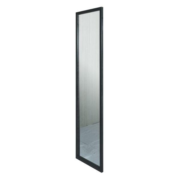 SPINDER DESIGN rektangulær Senza Blacksmith vægspejl - spejlglas og stål (185x46)