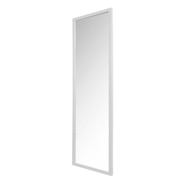 SPINDER DESIGN rektangulær Senza vægspejl - spejlglas og hvid stål (185x46)